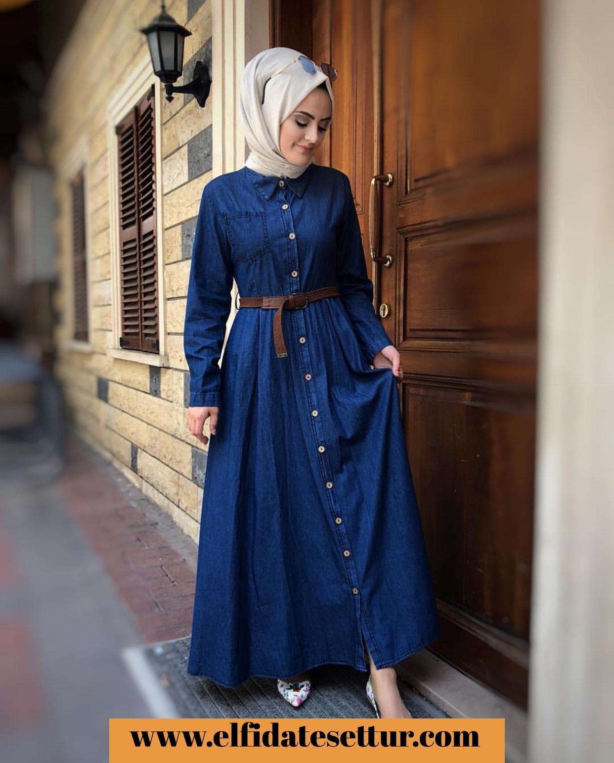 9c7169c9147e8 Büyük beden boydan düğmeli kot elbise - Kadın Giyim tesettür tunik etek  kazak hırka mont Kombin Kapıda Ödeme